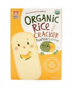 Organic Rice Cracker-Pumpkin